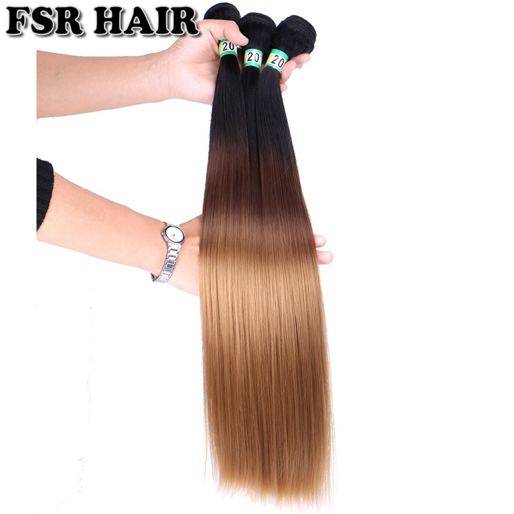 Us 5 82 20 Off Fsr T1b1 4 27 Straight Hair Weave 16 26 Inches Available Synthetic Hair Extension Three Tone Ombre Hair Bundles Synthetic Weave Aliexpress Straight Weave Hairstyles Straight Hairstyles Synthetic Hair Extensions