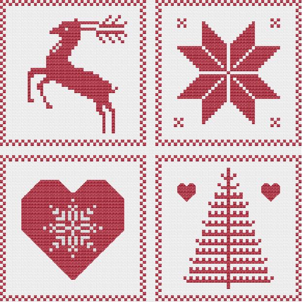 10 Name Embroidery Nordic Christmas Ornament Sampler Borduren Kerst Kerst Kruissteken Kruissteek