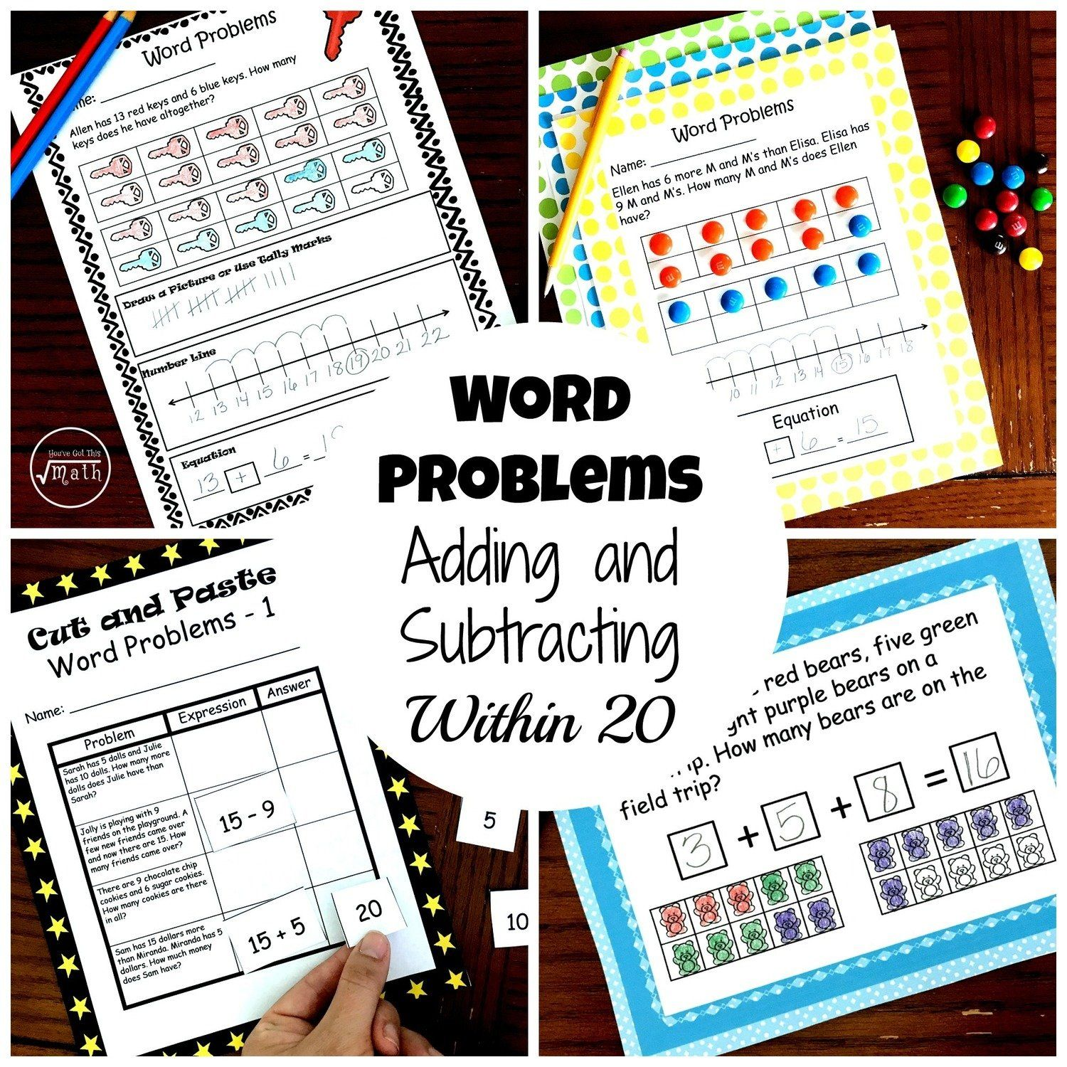 Word Problem Bundle 4 Activities To Practice Adding And