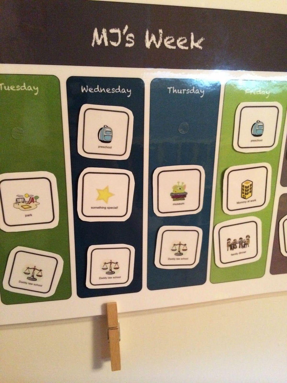 Easy Diy Kids Calendar Velcro Weekly Activity Cards Make