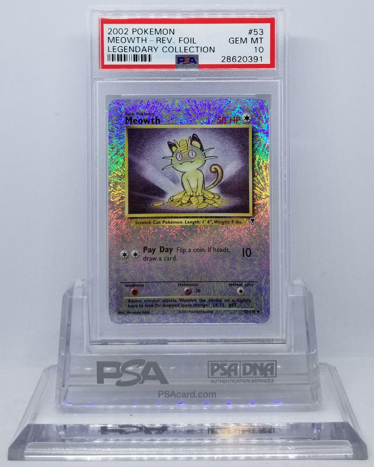 Pokemon legendary collection meowth 53 reverse psa 10 gem