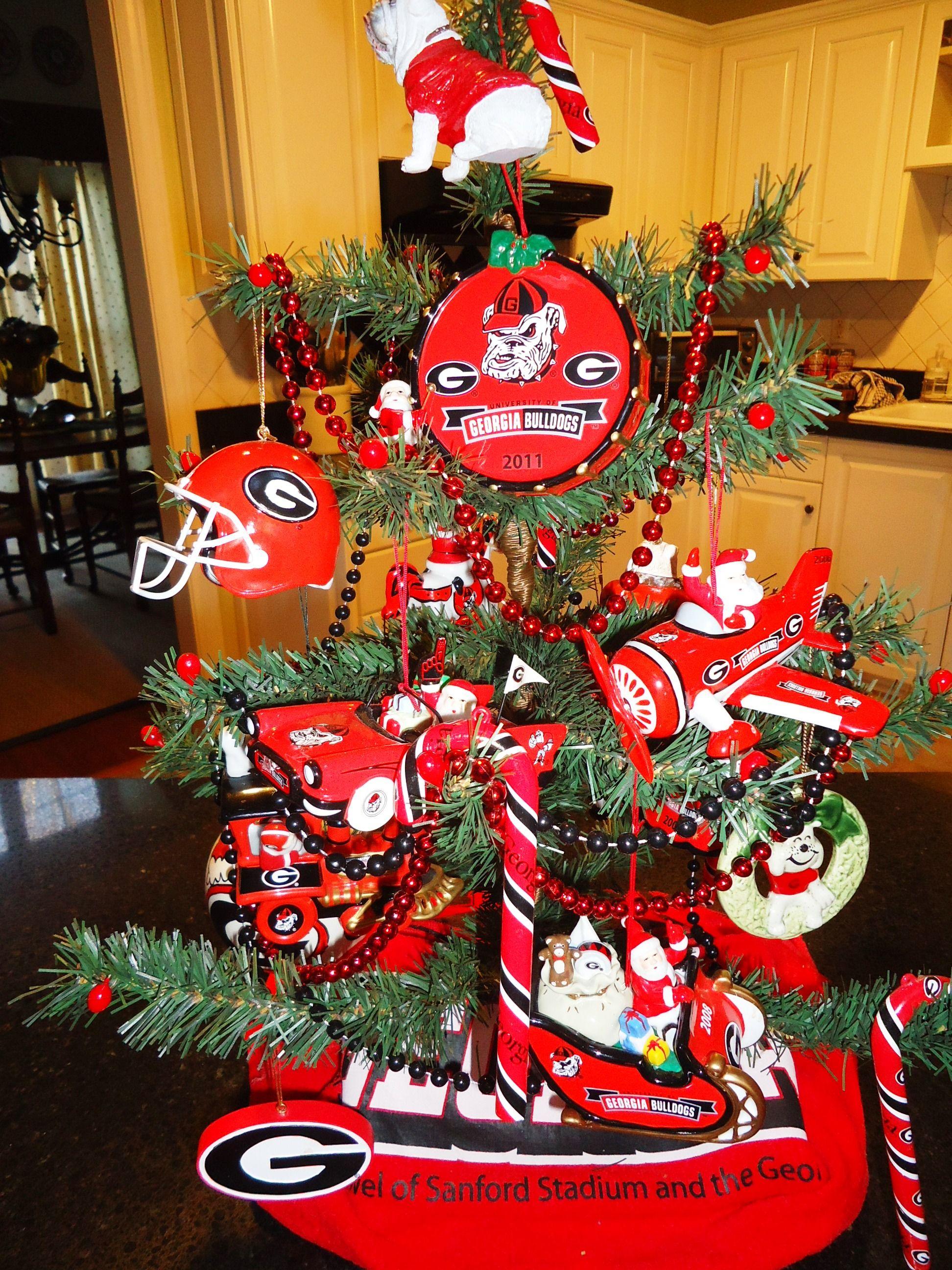 My UGA Christmas Tree! I need a bigger tree.   All Things Georgia ...
