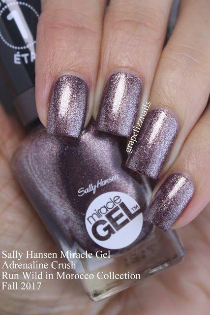 Sally Hansen Miracle Adrenaline Crush Run Wild In Morocco Collection Sally Hansen Miracle Gel Sally Hansen Miracle Gel Colors Gel Nails