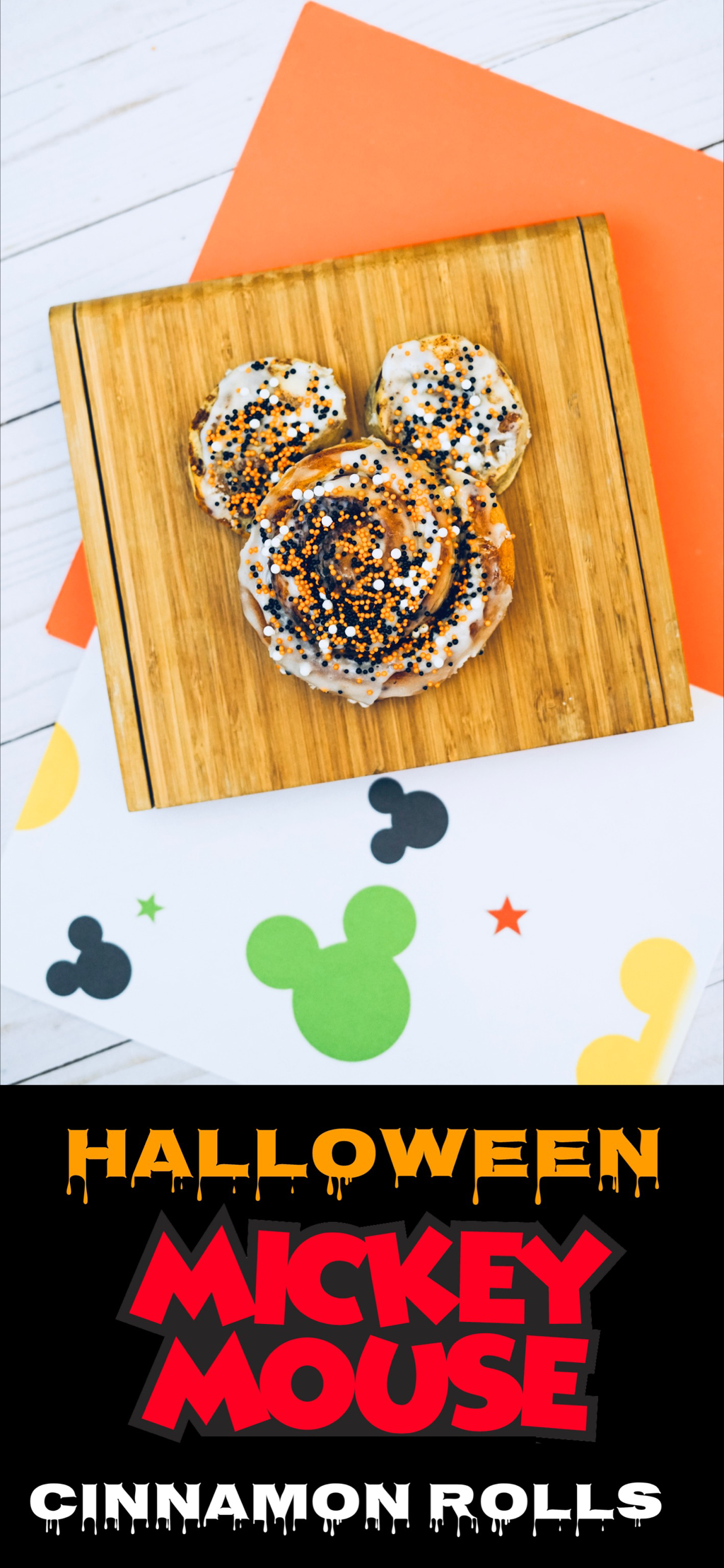 Mickey Mouse Cinnamon Rolls Cinnamon rolls, Halloween