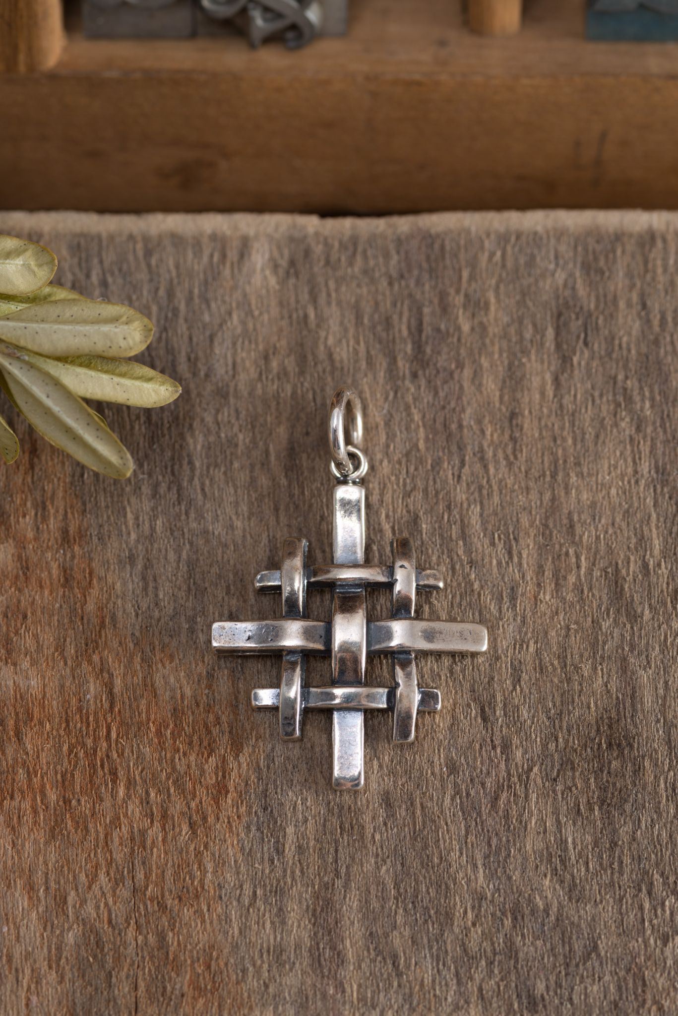 Our artistic version of a traditional jerusalem cross sterling our artistic version of a traditional jerusalem cross sterling silver woven pendant represents christs command fandeluxe Ebook collections