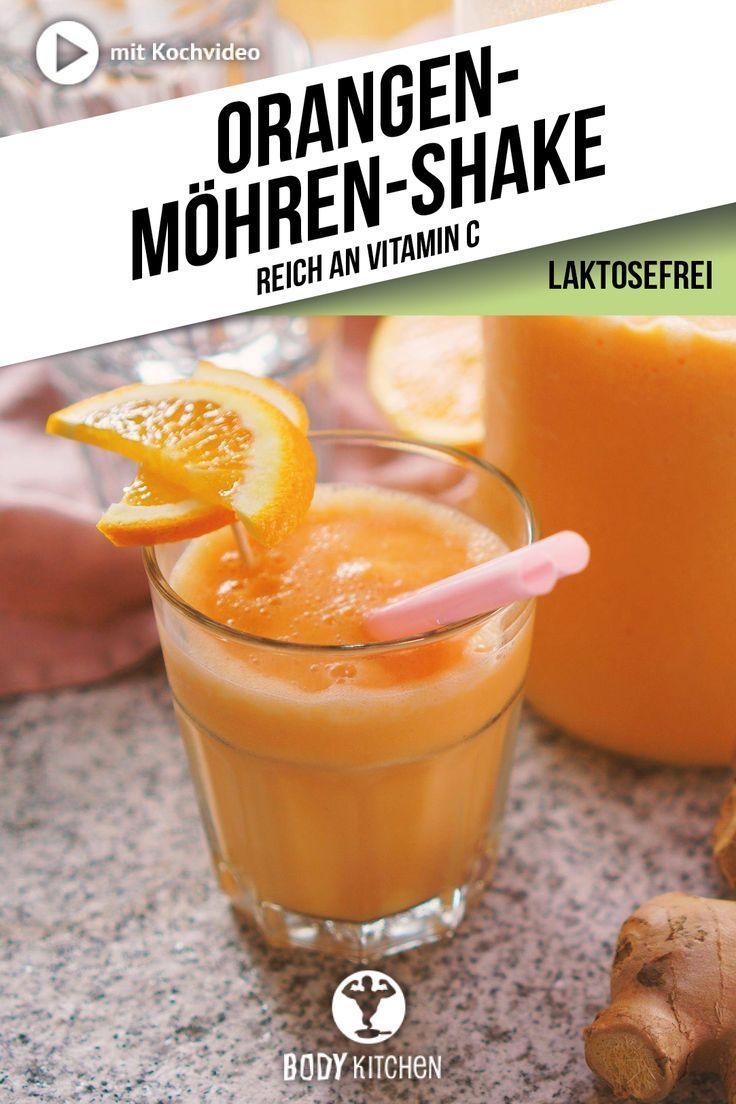 Wie wäre es zum Frühstück mal mit einem Orangen-Karotten-Smoothie? #mixer #smoothie #shake #fitness...
