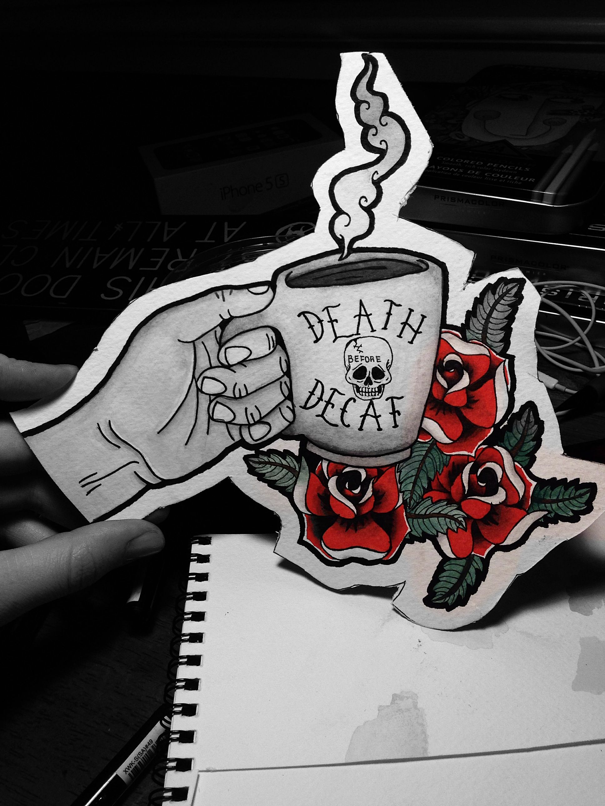 Death before decaf.   By me