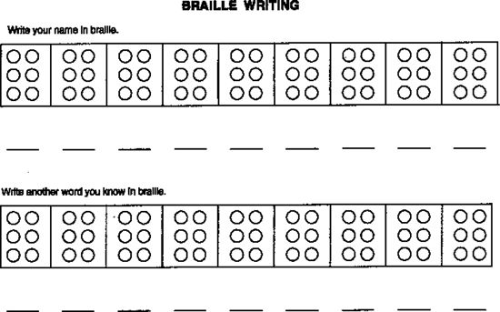 image about Printable Braille Alphabet titled Braille Printables Photos - Opposite Look