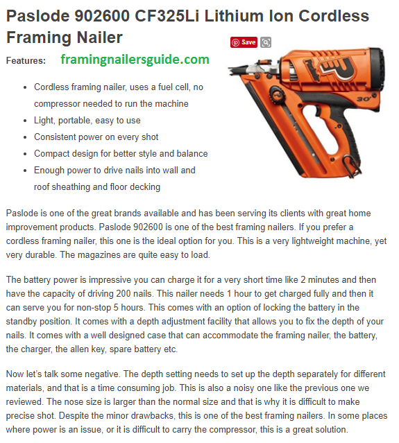 Best Framing Nailer Framing Nailer Framing Nailer Review Paslode 902600 Cf325li Lithium Ion Cordless Framing Nai Framing Nailers Roof Sheathing Better Style