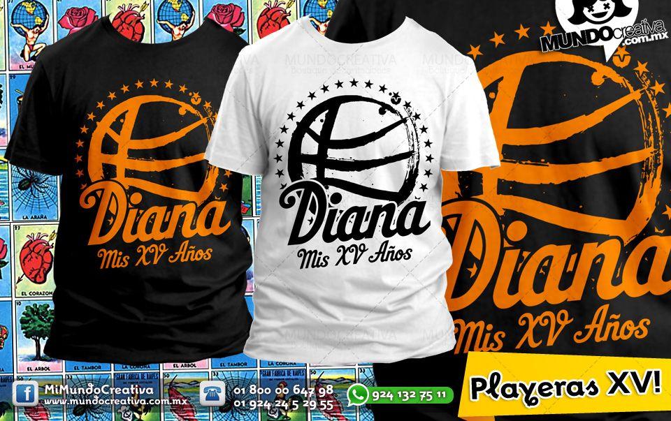 Playera para Xv Años Quinceaños Quinceañera T-shirts  197c039560901