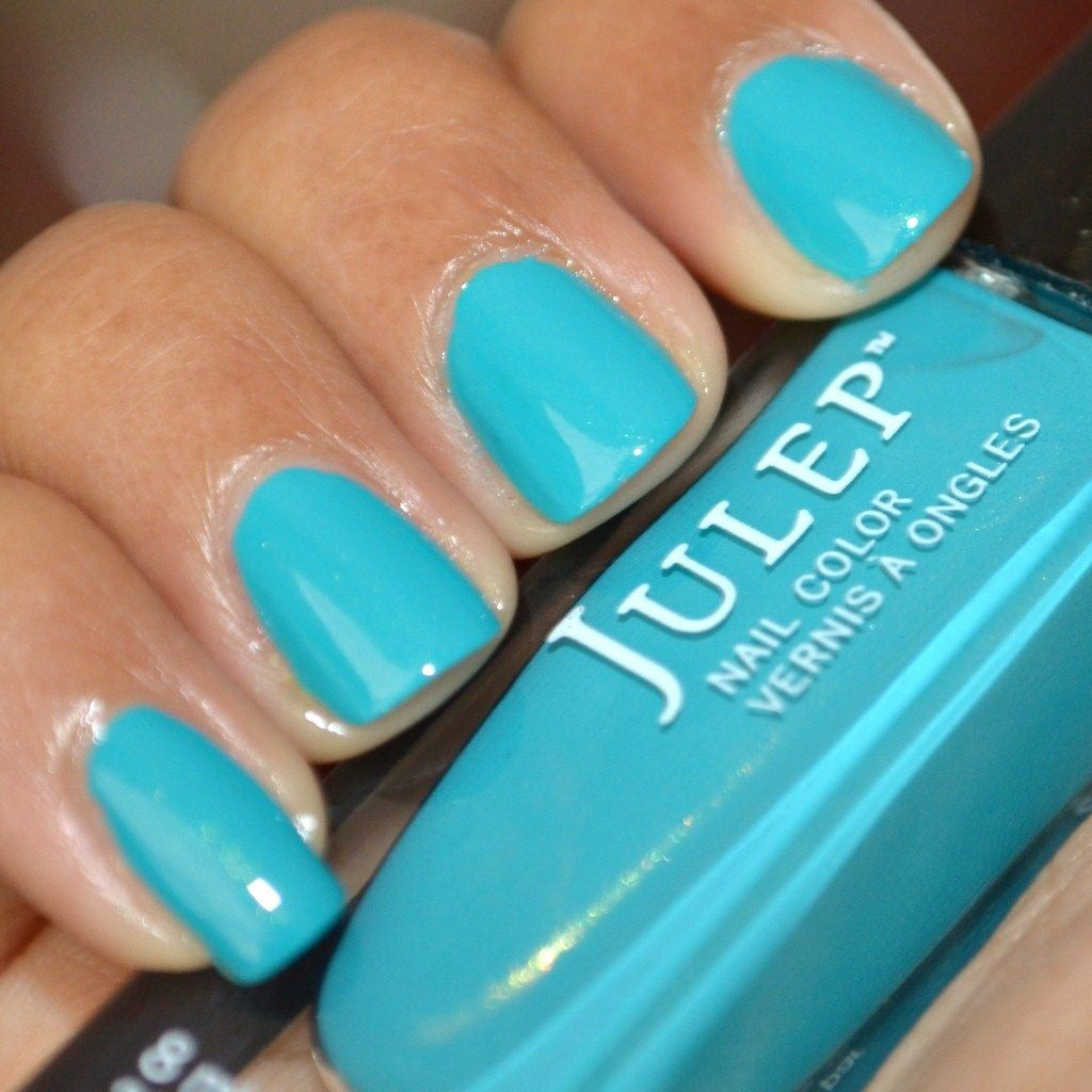 Swatch of Julep Nail Polish Lena, teal with gold shimmer | Nailed ...