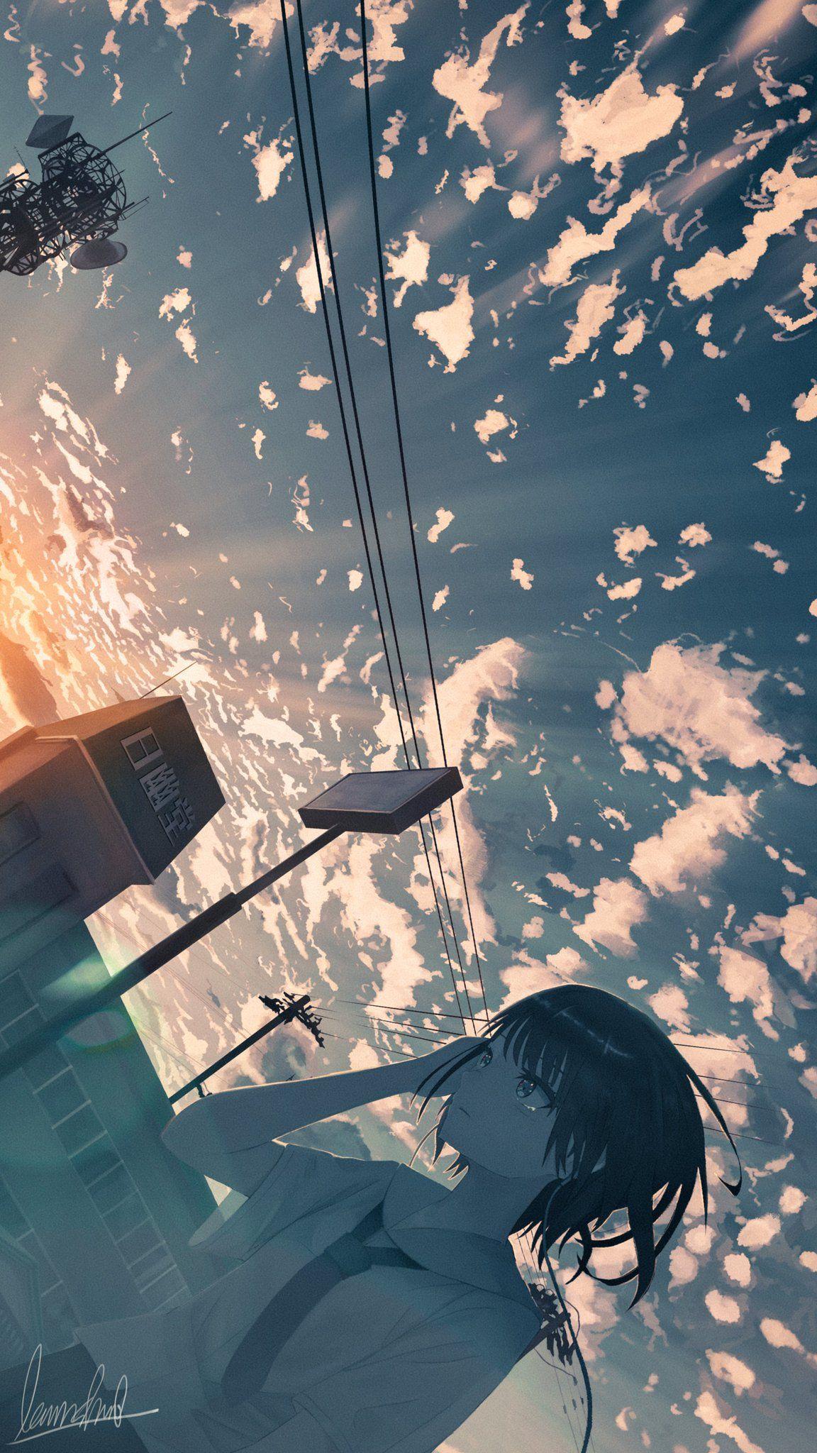 Twitter 幻想的なイラスト アニメの風景 風景の絵