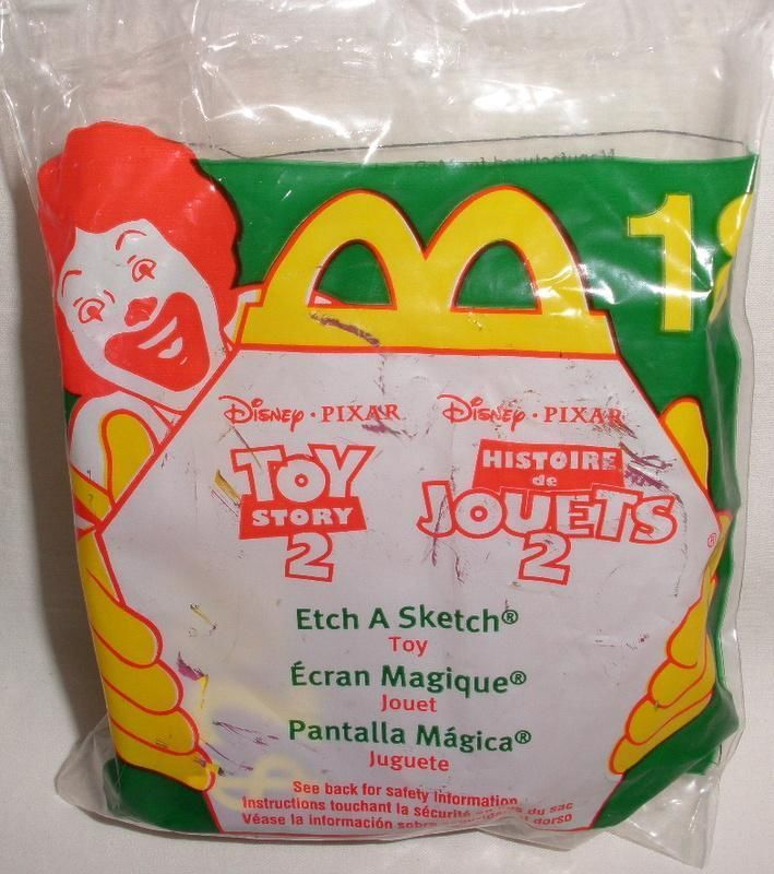 1999 Disney Pixar McDonald's Toy Story 2 Etch A Sketch Toy #18 New #McDonalds