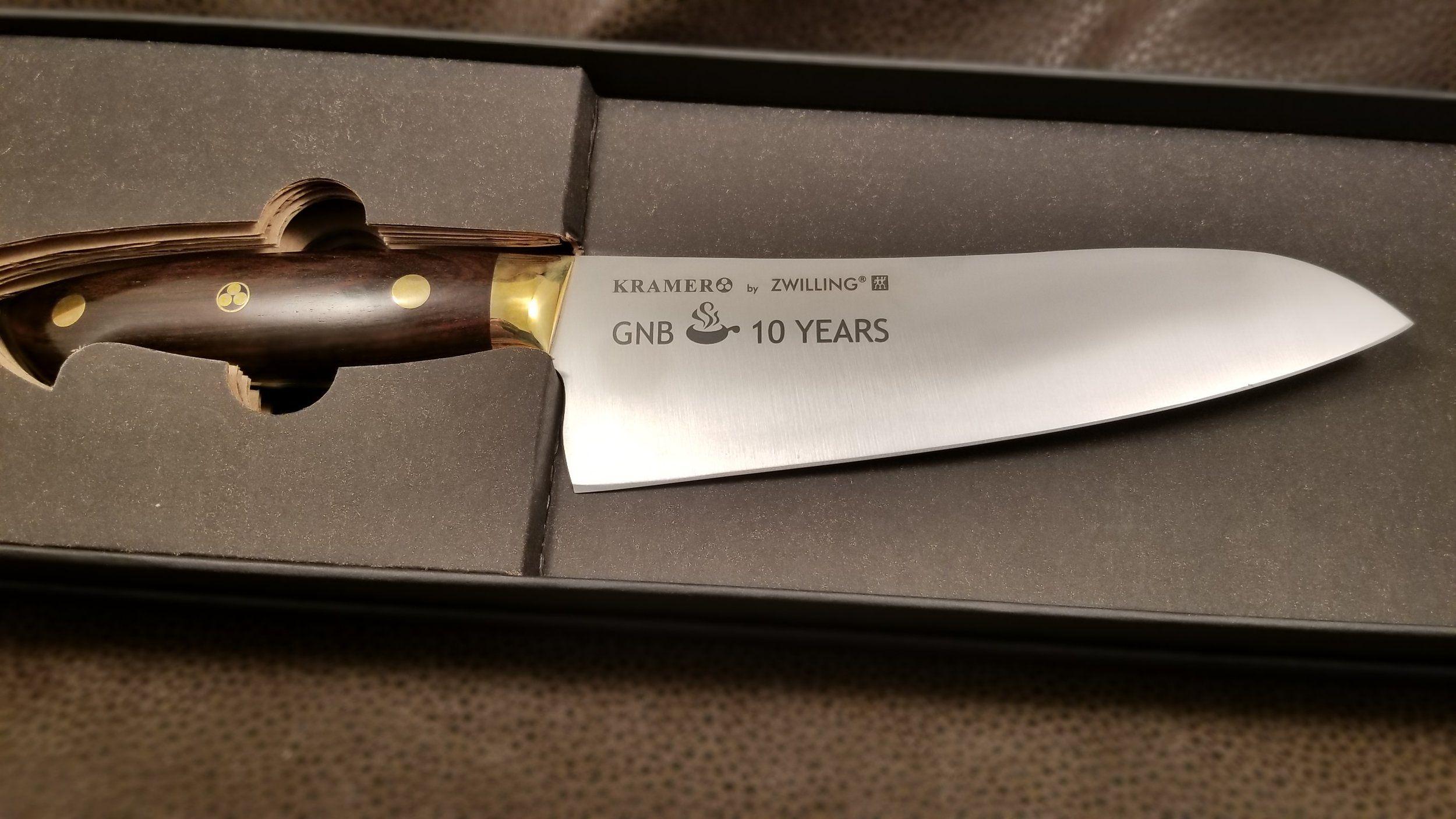 Laser etched kitchen knives
