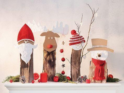 Diy Anleitung Weihnachtsfiguren Aus Brennholz Basteln Via