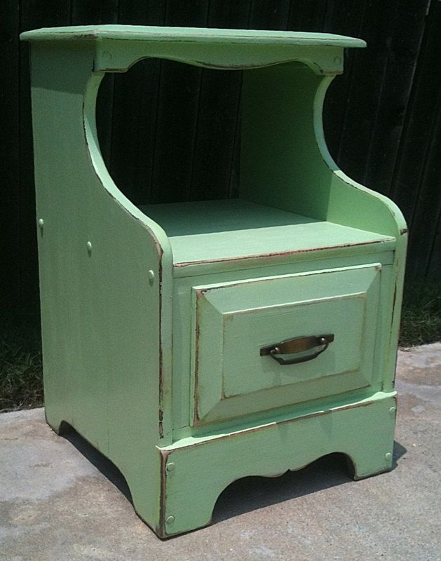 1960u0027s Vintage Distressed Night Stand, End Table, Accent Table, Seafoam  Green, Cottage Chic, Beach. $110.00, Via Etsy.