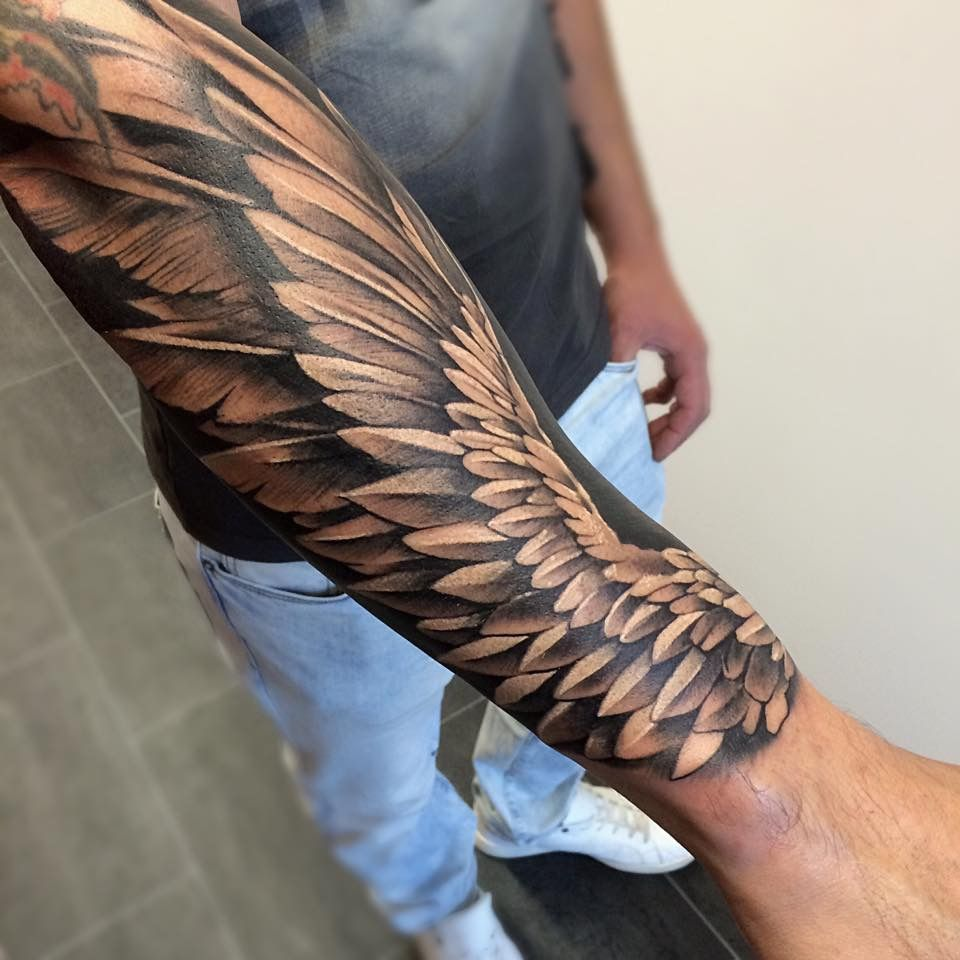 Wing Tattoo Arm, Wing Tattoo