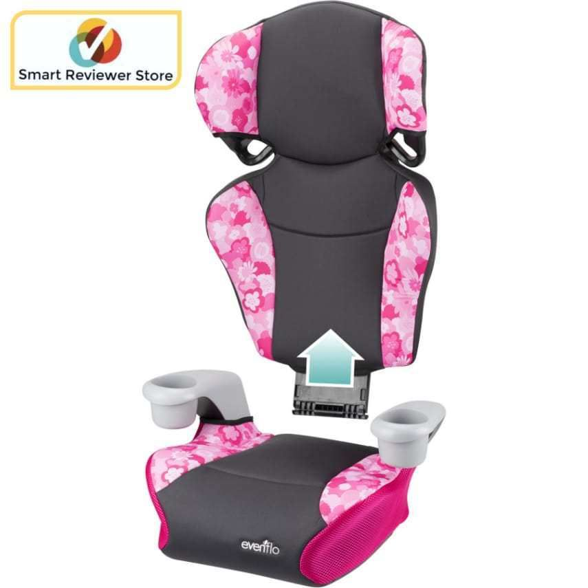 High Back Booster Car Seat Evenflo Big Kid Sport Peony Playground 2 Seats In 1 Baby