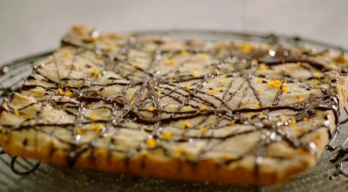 Jamie Oliver chocolate and orange shortbread topped with