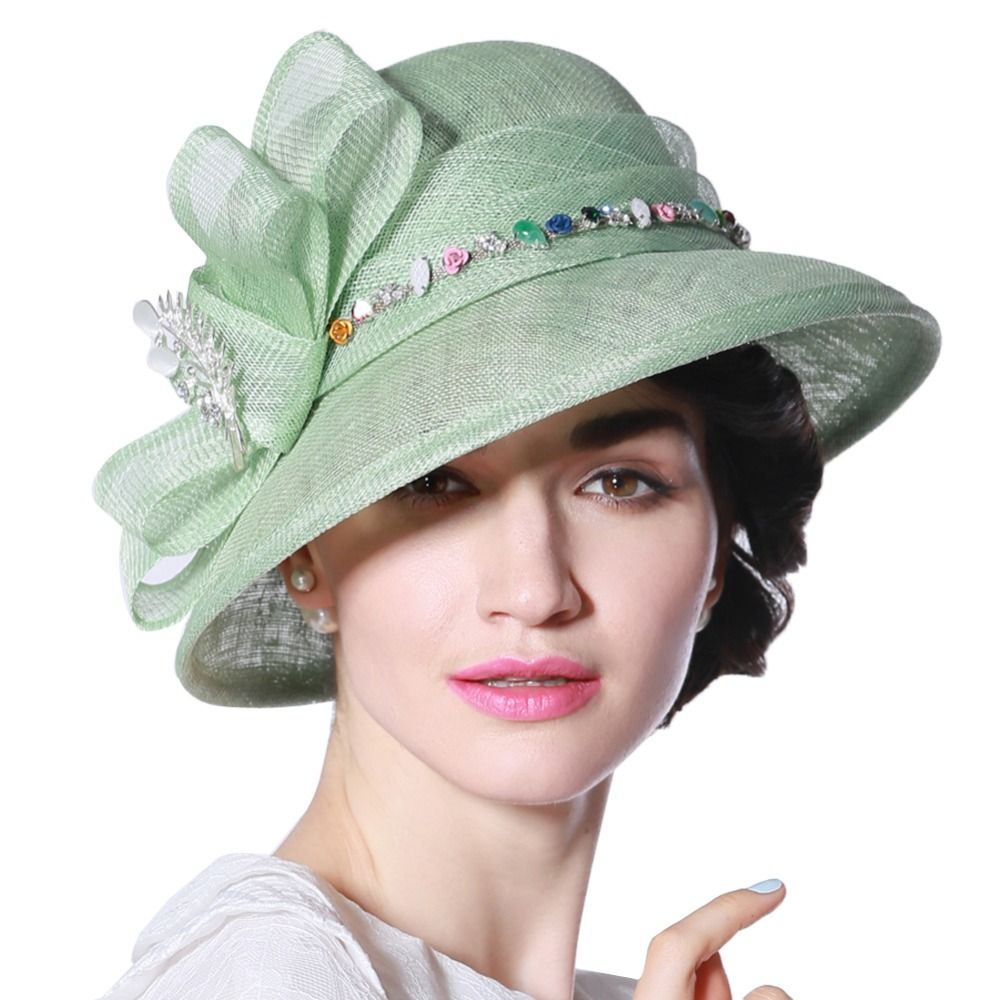 Young girls wedding dresses  Click to Buy ucuc Women Sinamay Hat Derby Church Wedding Cocktail