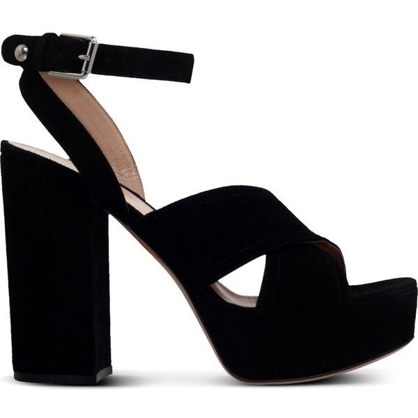 a000af046e7 GIANVITO ROSSI Suzie suede platform sandals ( 750) ❤ liked on Polyvore  featuring shoes