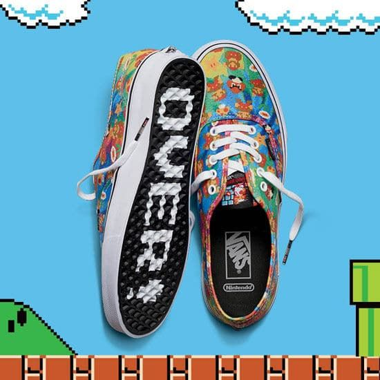 Nintendo Enter Shoe With Brand New Vans
