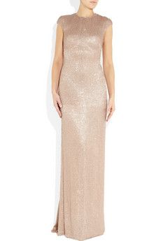 Sequined silk and tulle gown by KAUFMANFRANCO