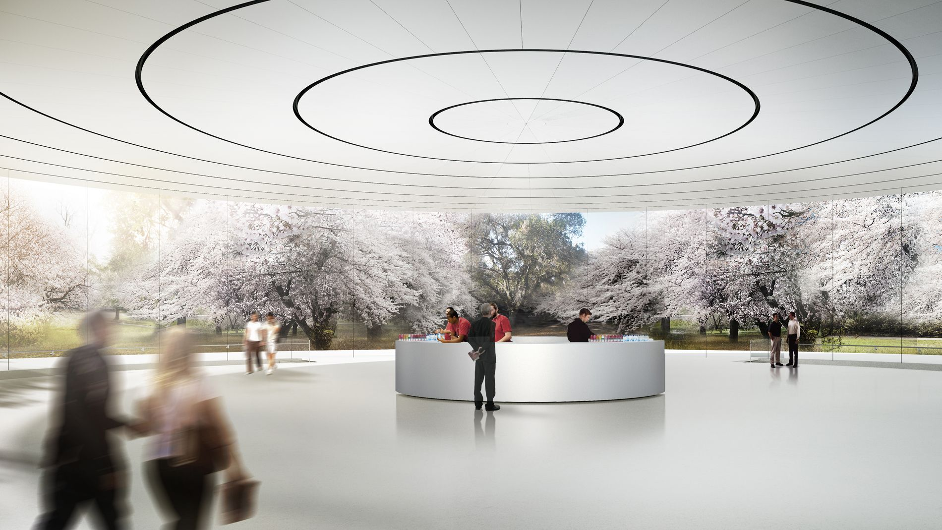 Photos and new details reveal the development of Apple Campus 2 and its product launch Theatre in Cupertino, California.