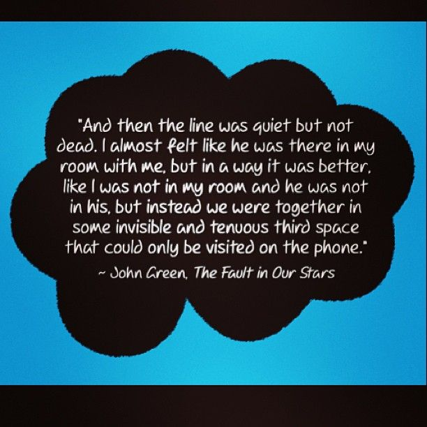 ~John Green, The Fault in Our Stars Intersubjectivity ...