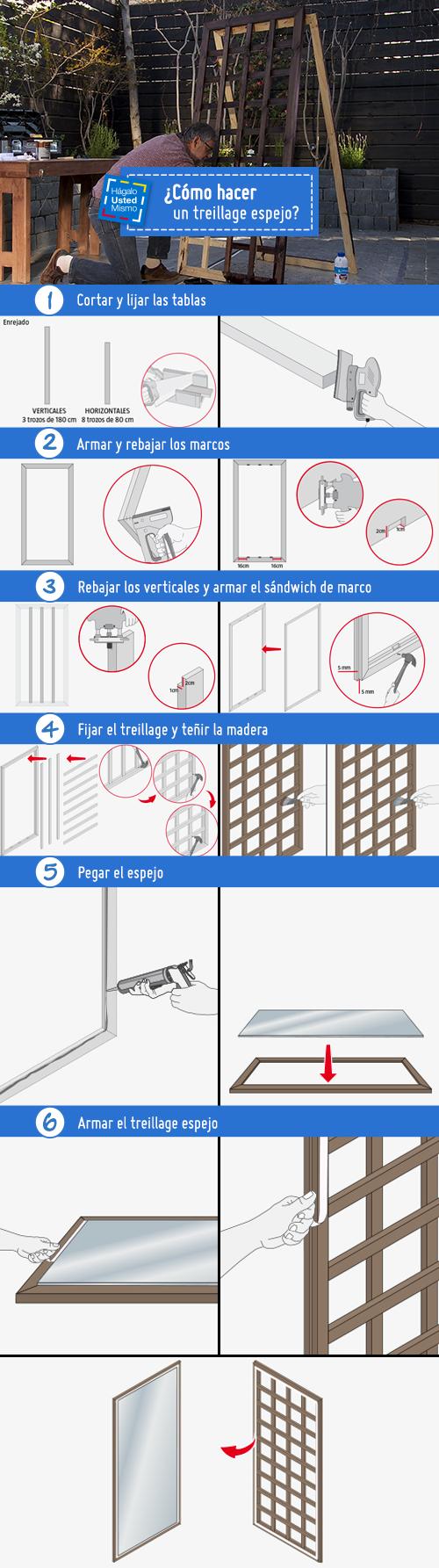 Ideales para pequeños balcones y jardines, ya que lo harán ver mucho más grande, ¡fabrica un treillage espejo con este #HágaloUstedMismo! #HUM