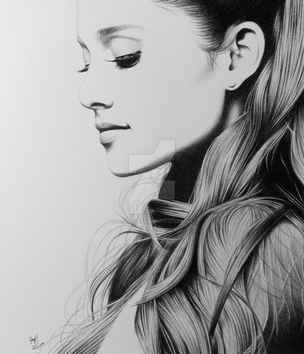 Artistiq Ariana Grande Pencil Sketch