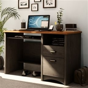 Home Office Work Desk Computer Desk With Keyboard Tray   Quality House