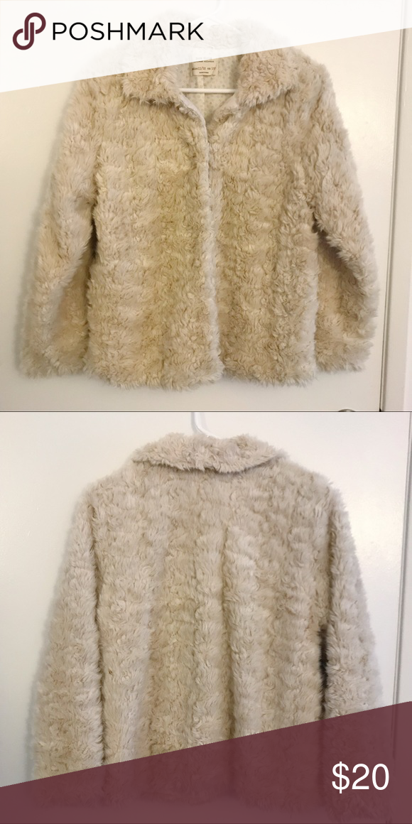 16cb8eecb938 Zara Fur Coat Girls size 11 12