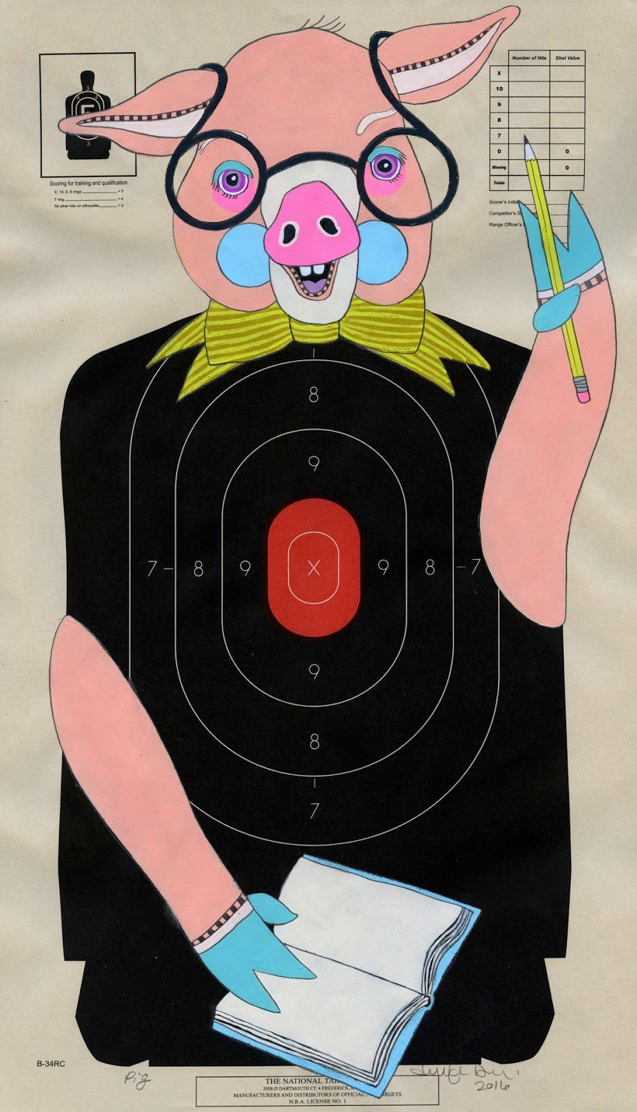 Here are a bunch of the gazillion hand-painted paper shooting targets I have painted over the past year or so. These are really fun to make...