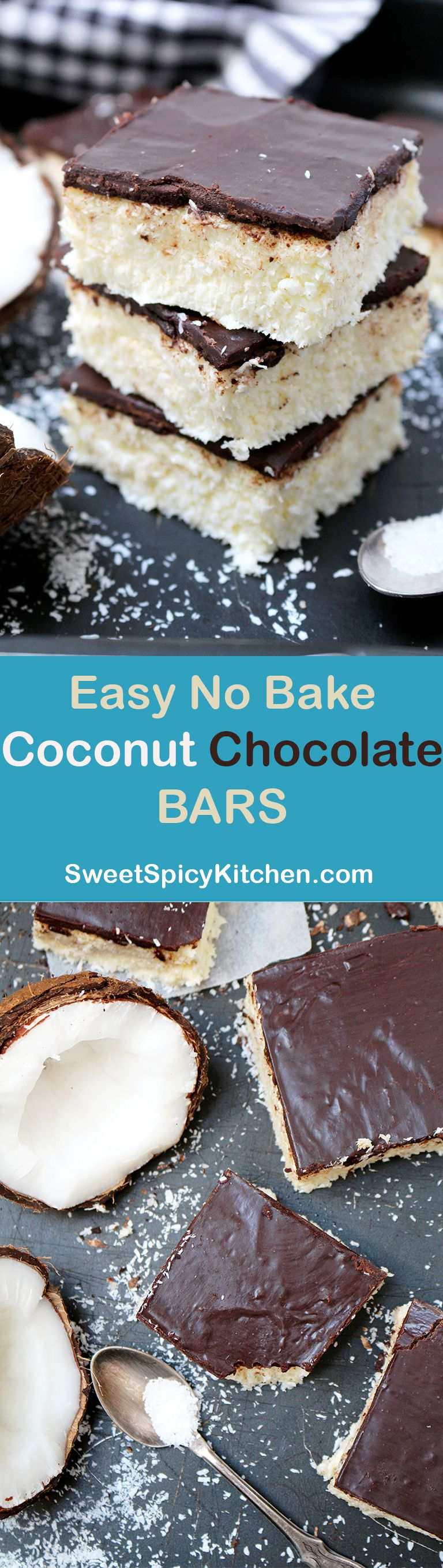 EASY NO BAKE COCONUT CHOCOLATE BARS - light and refreshing,melt in ...