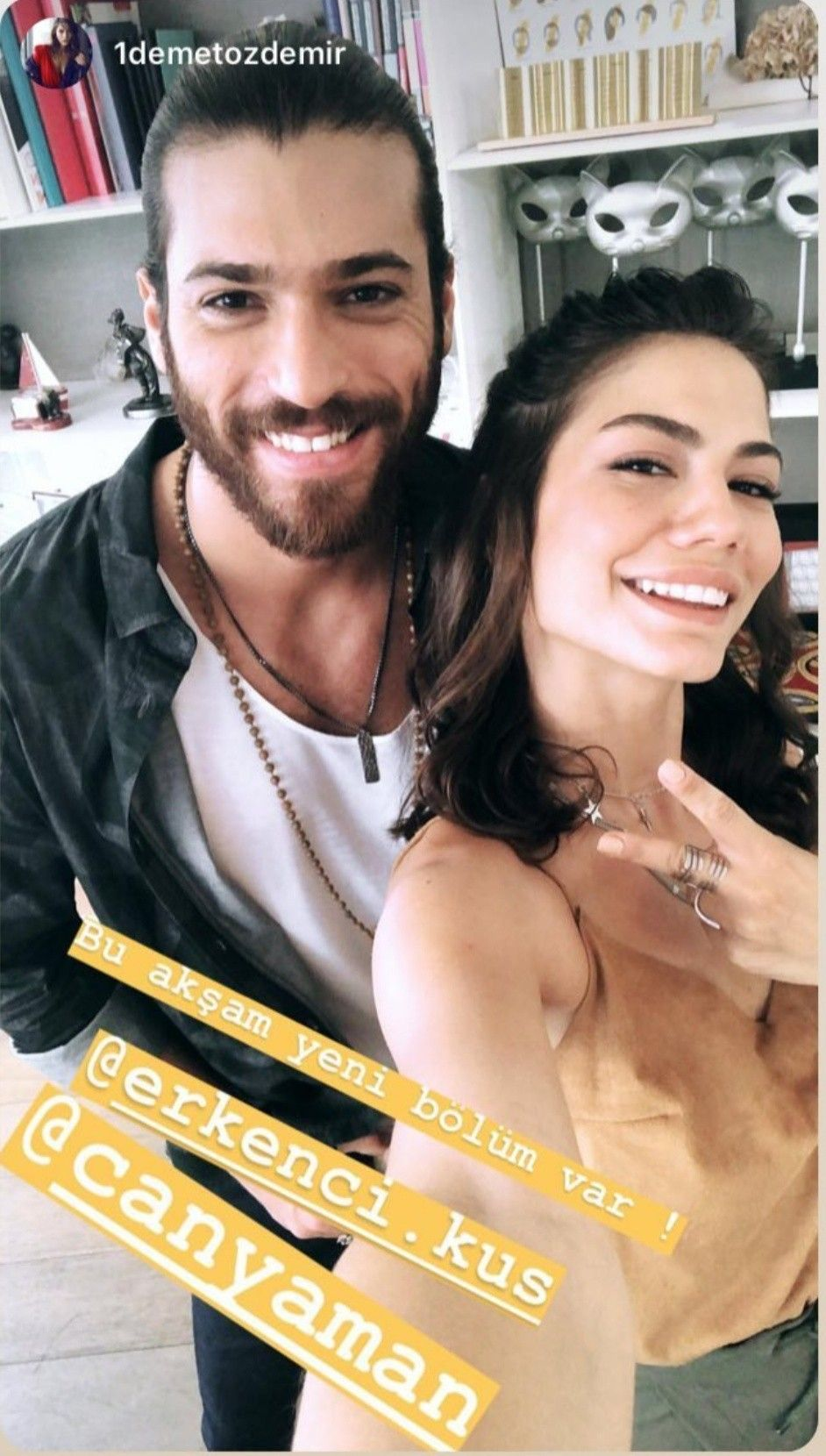 Can Yaman and Demet Ozdemir | Erkenci Kuş in 2019 | Canning