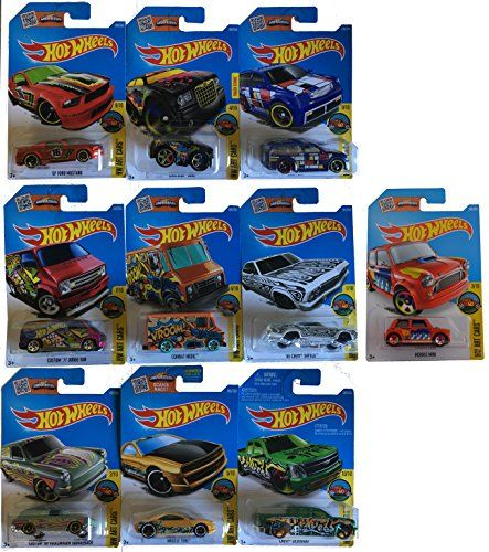 Hot Wheels 2016 Complete Hw Art Car Set 10 Car Set Musta Https