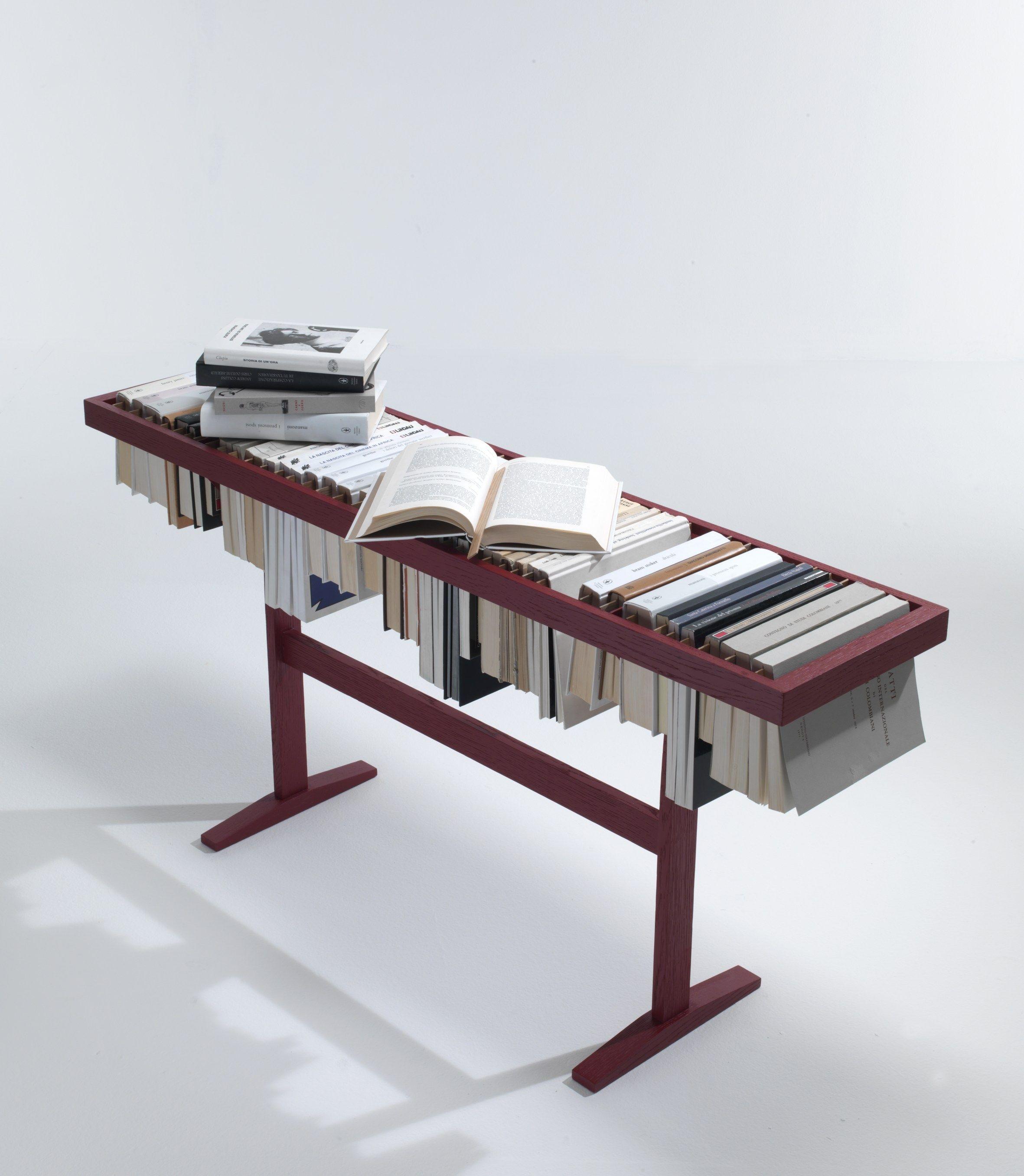 bookcase / coffee table booken@lemamobili design raw edges