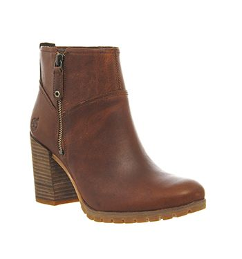 Timberland Swazey Zip Womens Ankle Boots Wheat Forty Leather
