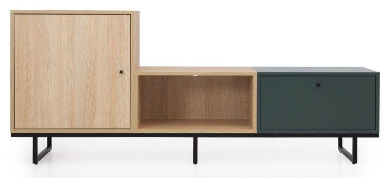 Tenzo Mudo Cabinet – 1-Door / 1-Drawer / 1-Compartment -168x38x71 – Oak / …