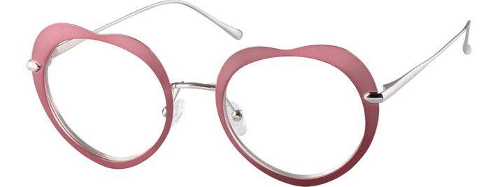 f89da4cb092 Shop prescription glasses on the Zenni Arrival list for women. Metal Heart- Shaped Glasses