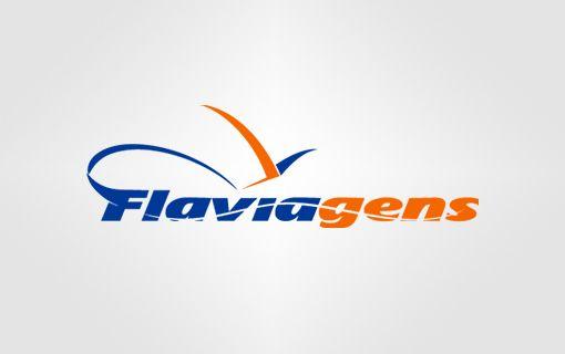 Flaviagens - Logotipo Agencia de Viagens