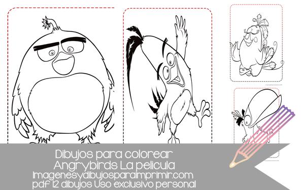 Colorea A Todos Los Personajes De Angry Birds Dibujos En Pdf Listos Para Imprimir Art Humanoid Sketch