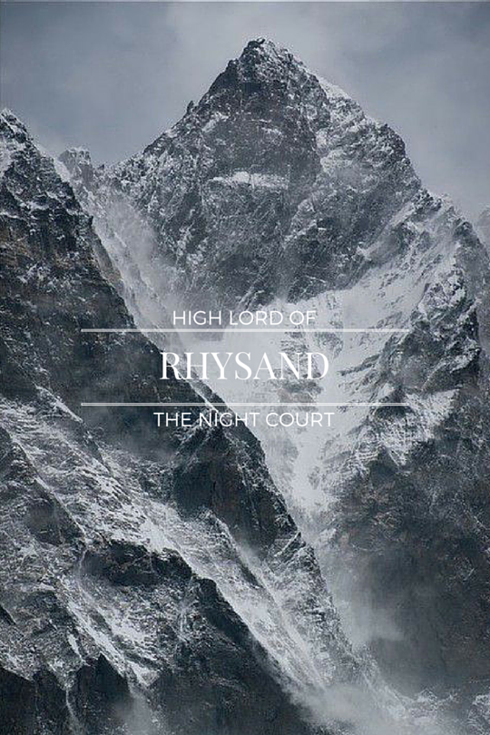 Rhysand, High Lord of the Night Court