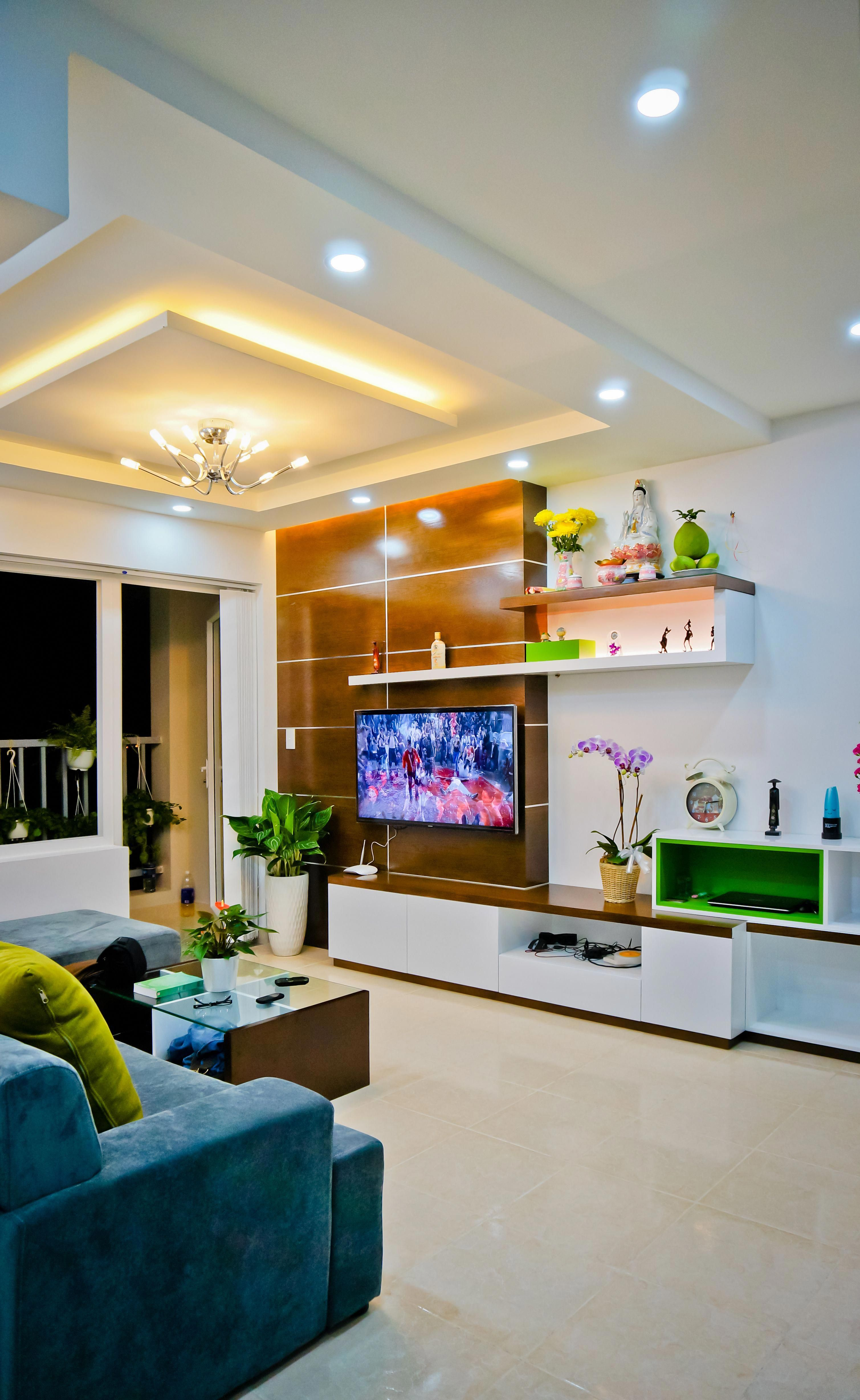 Living Room Lcd Tv Wall Unit Design Ideas: House Ceiling Design, Bedroom False