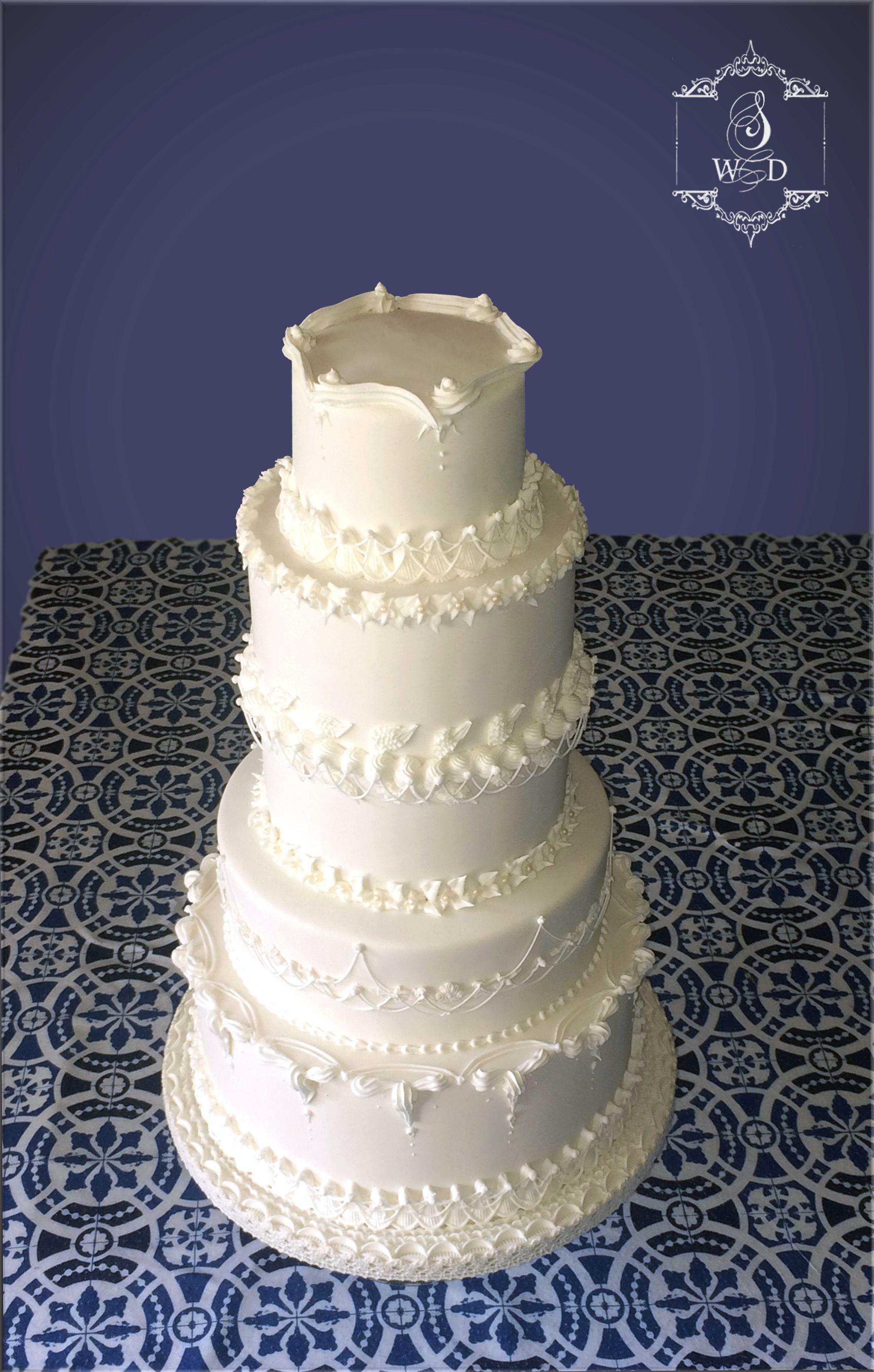 Wedding Cake Blanc Décor Glace Royale Weddingcake