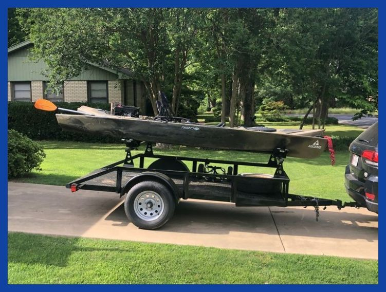 No more hoisting kayaks on top of the car for Cory. Set of