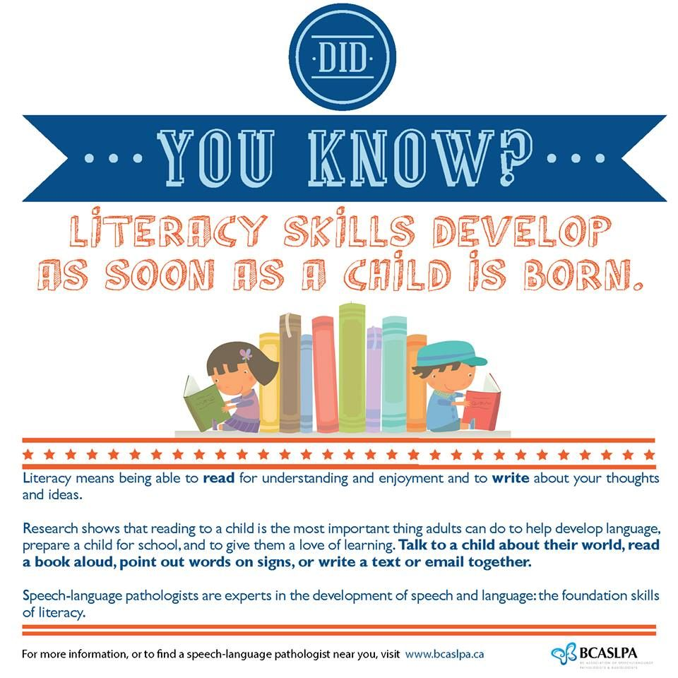Did you know literacy skills develop as soon as a child