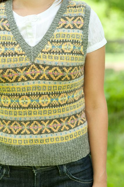 Ravelry: MaryJanes Craftsy Fair Isle Vest #knit | yarn stuff | Pinterest