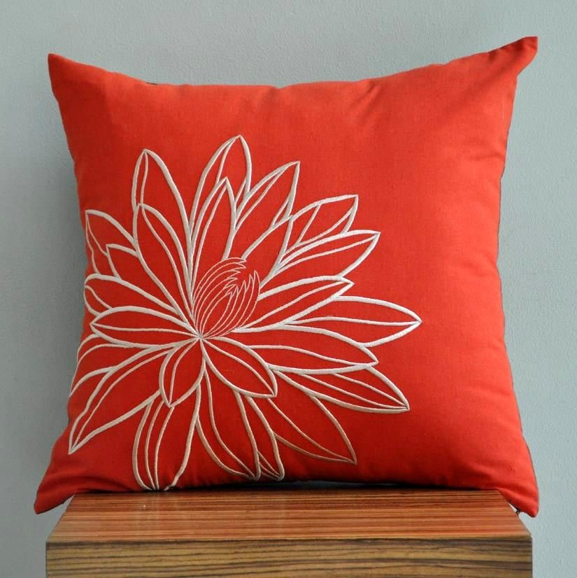 Custom listing for Emily - 2 Embroidered Throw Pillow Covers - 20\